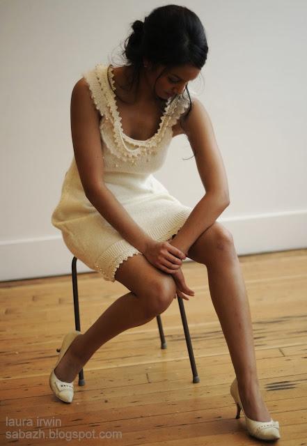 вязаное платье крючком,knitted dress,Strickkleid,Laura Irwin
