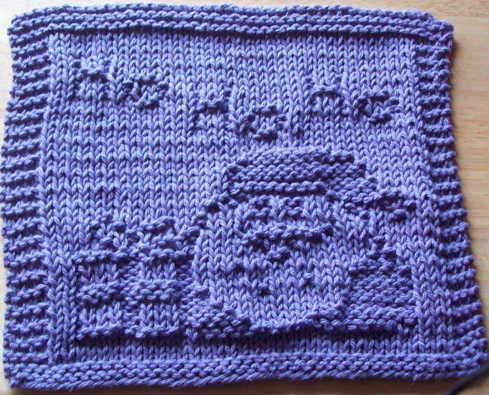 Christmas Dishcloth Knitting Patterns : Digknitty designs santa ho knit dishcloth pattern