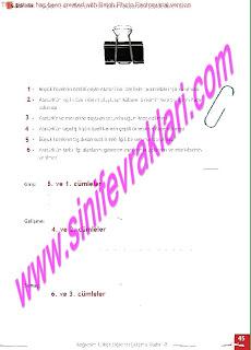 8.Sinif Turkce Enderun Yayinlari Calisma Kitabi Cevaplari Sayfa 45