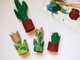 paint toilet paper roll flowers and cacti