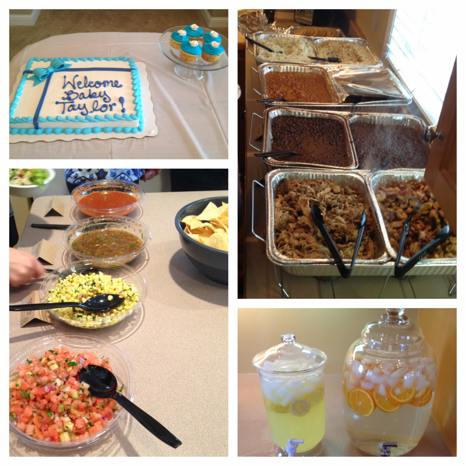 a homebody at heart Baby shower in blue