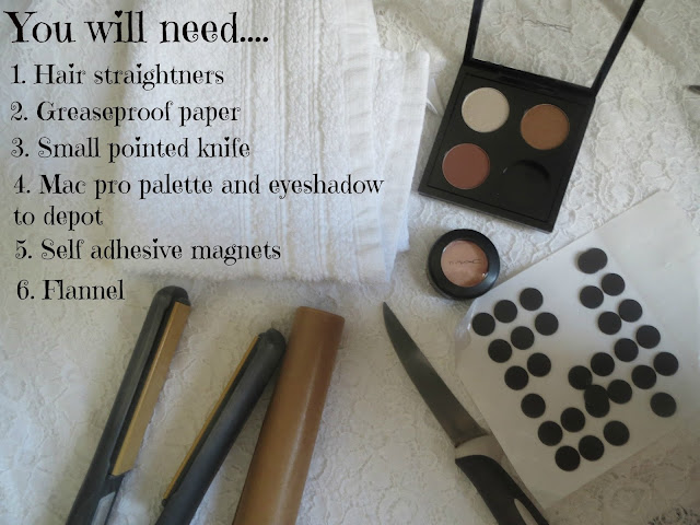 How to depot your Mac eyeshadows