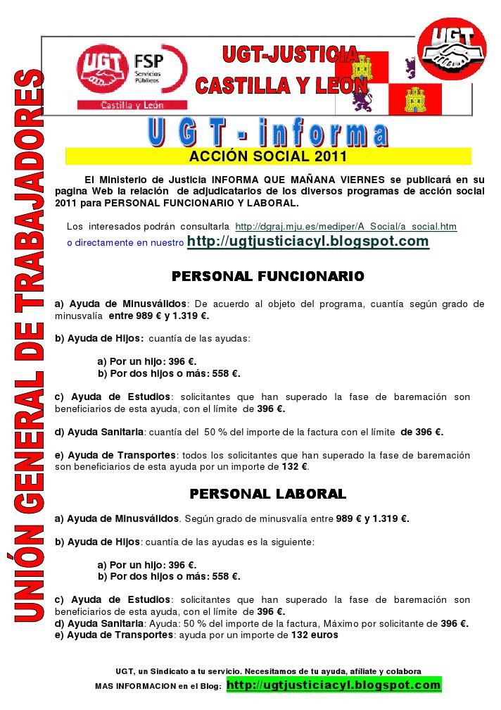 Ugt justicia castilla y leon accion social 2011 ma ana for La pagina del ministerio