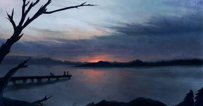 Photoshop Dusk Painting