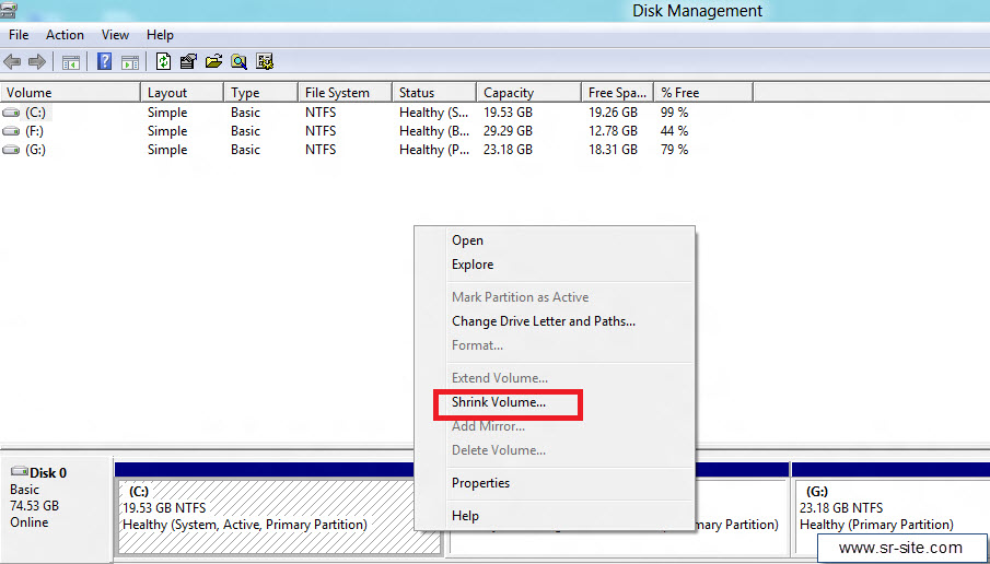 how to make hard disk partition in windows 8