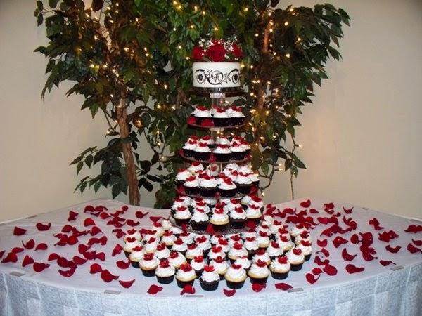 Cupcakes de Boda Rojos, parte 5