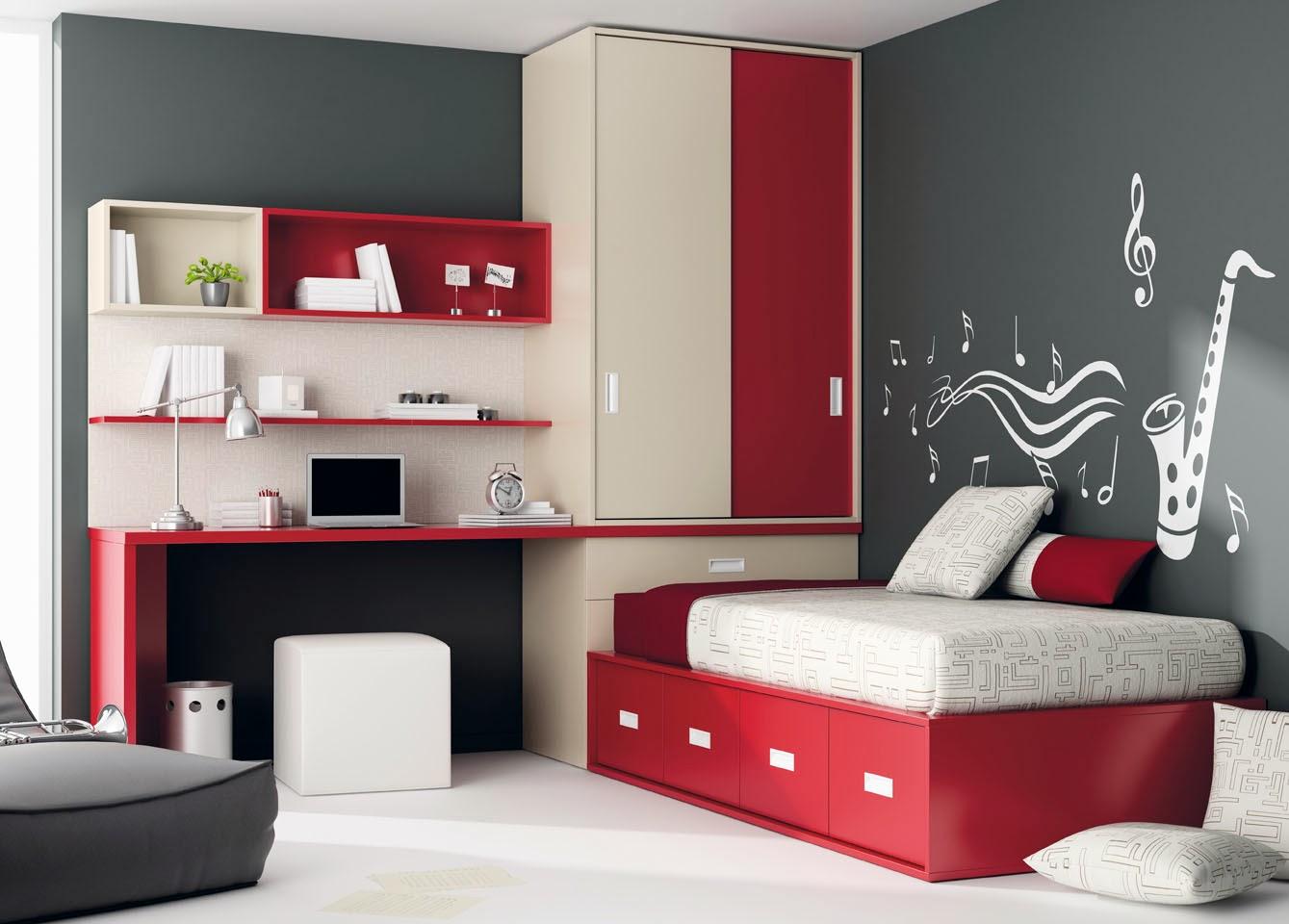 Decorare la cameretta dei bambini mobili ros - Combinar colores habitacion ...