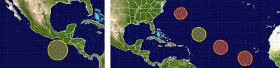 Gesamtsituation zweites Wochenende im August 2011, August, 2011,  Hurrikansaison 2011, Atlantik, Pazifik, aktuell, Franklin, Fernanda,