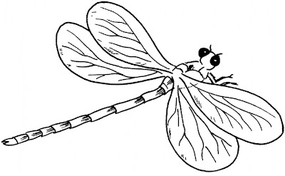 Animal Cute Dragonfly Coloring Pages