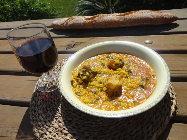 Recetas de fina arroz caldoso con verduras y costilla - Arroz caldoso con costillas y alcachofas ...