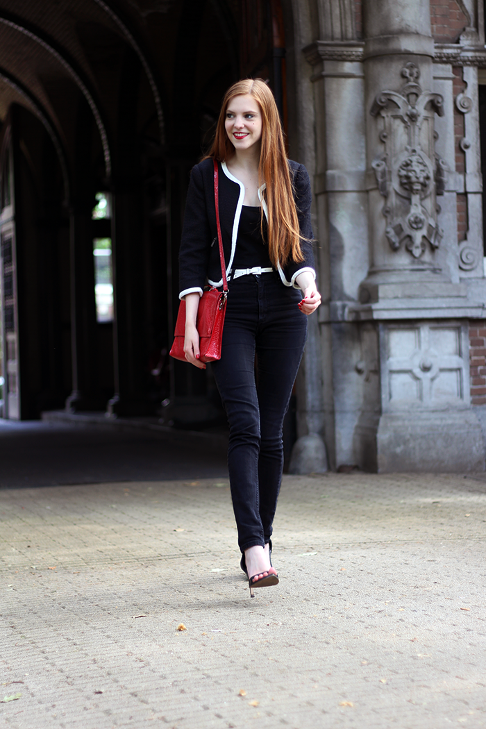 Fashion blog amsterdam dutch red hair chanel-ish jacket Zara heels