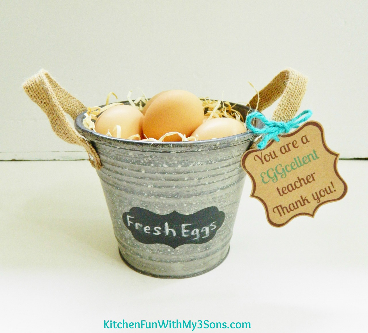 Teacher Appreciation Farm Fresh Eggs Gift with Free Printable ...