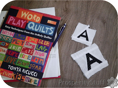Crossword Puzzle Quilt letters with Word Play Quilts book
