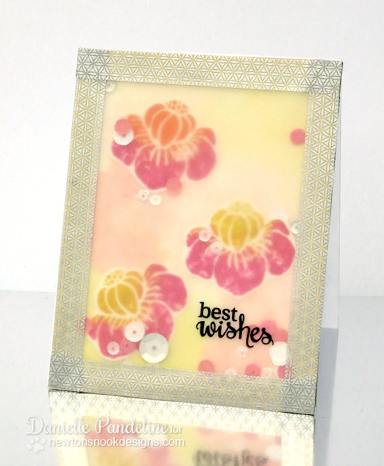 Best Wishes Flower card by Danielle Pandeline | Fanciful Florals Bold Flower Stamp set by Newton's Nook Designs