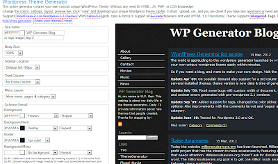 wordpress theme generator,wordpress premium theme