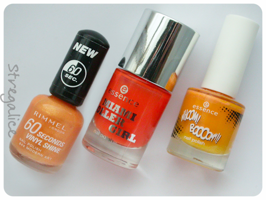 Rimmel Modern Art Essence Miami Heat  Essence Andy You're A Star orange