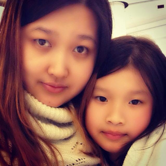 with my beautiful daughter