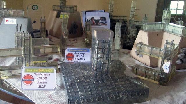 Miniatur bangunan yang ada di dalam museum