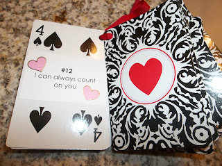 My sweetie will get a deck of cards with 52 reasons why i love him