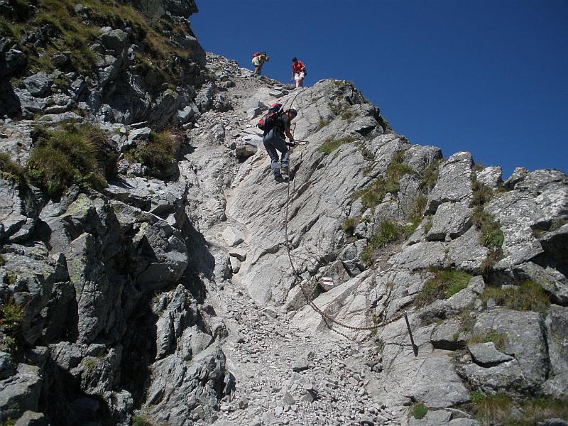 Zejście na Granacką Przełęcz.