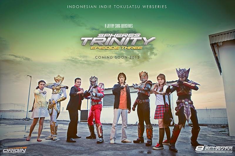 poster spheres trinity, tokusatsu asli indonesia