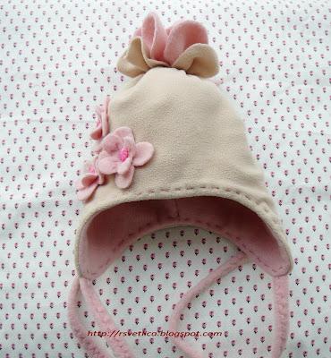 Своими руками шапка для девочки из флиса 70