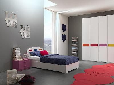 desain kamar tidur romantis minimalis modern