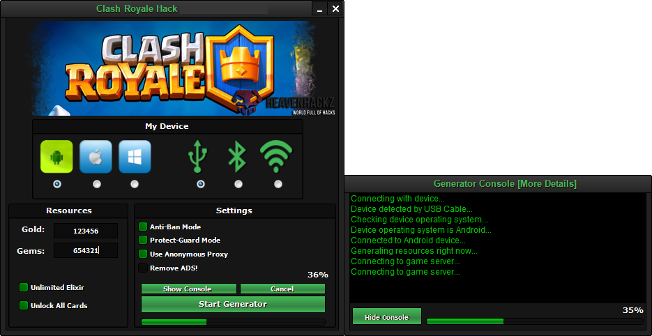 Clash Royale hack Cheat tool FREE Download | Keygen & Hack