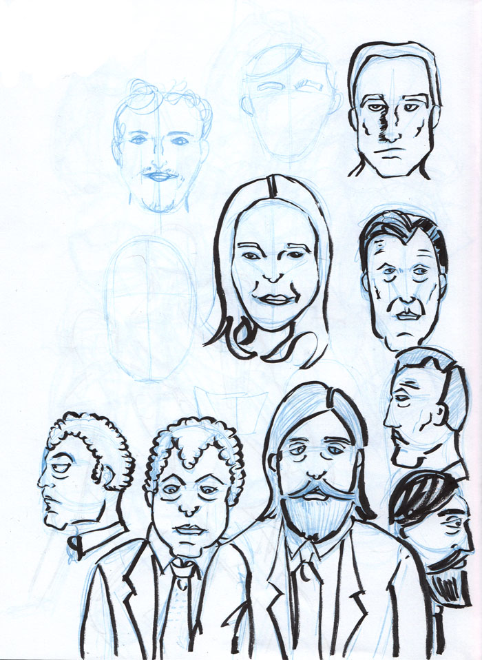 Dibujando sentado noviembre 2011 for Twitter cuarto milenio