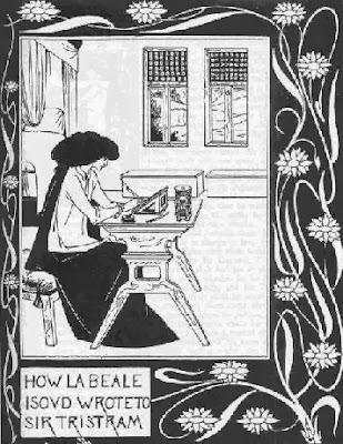 Una donna scrive, come Isotta.