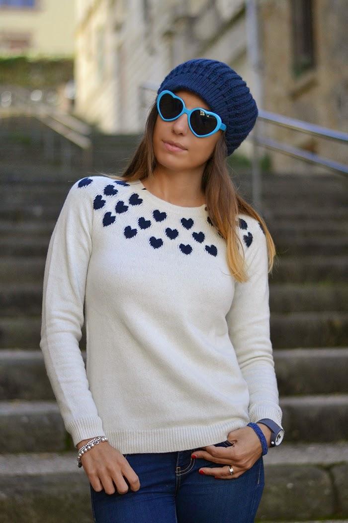 maglione cuori sun68