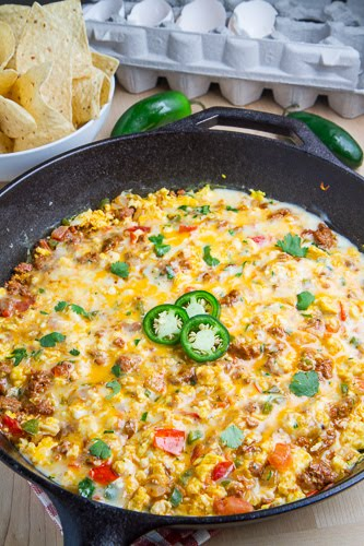 Breakfast Queso Fundido on Closet Cooking