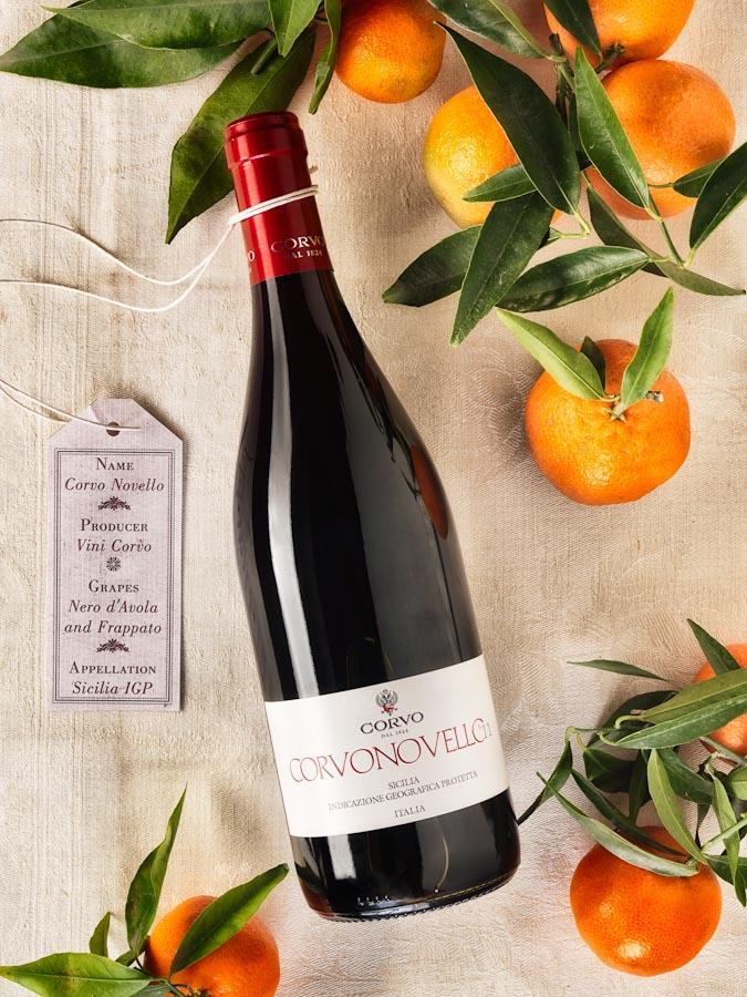 vino wine Corvo Novello