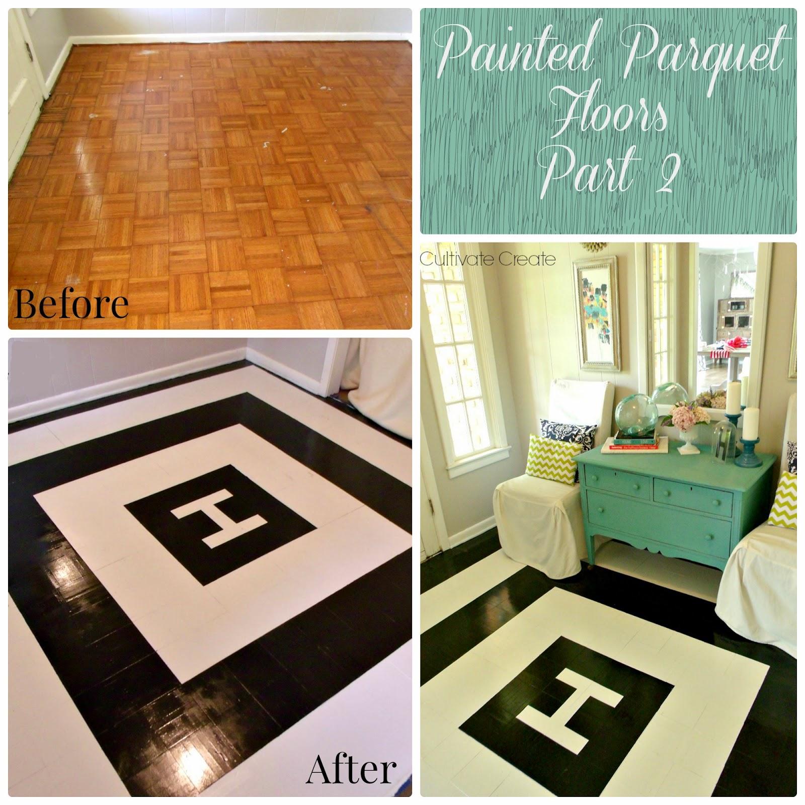 Cultivate create painted parquet floor part 2 - Painted parquet floor pictures ...