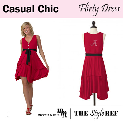 Casual Chic: Meesh and Mia Flirty Dress in Alabama Crimson Tide
