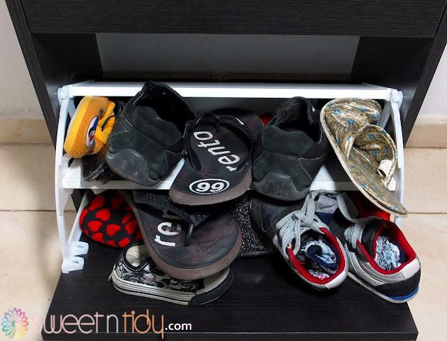 Organizing shoes