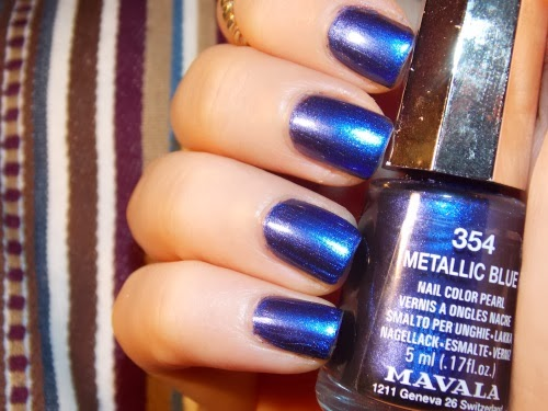 mavala metallic blue, mavala swatch metallic blue, vernis mavala metallic blue, blog beauté