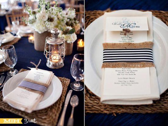 Detalles para boda marinera o naútica