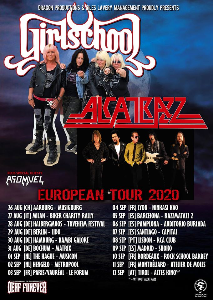 GIRSCHOOL + ALCATRAZZ