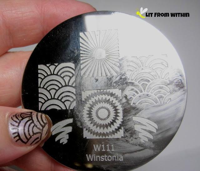 rainbow-ish pattern on Winstonia W111