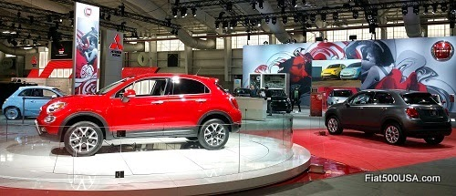 Fiat Display at the New York Auto Show