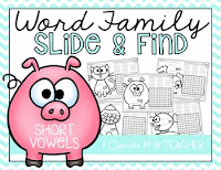 Word Family Slide and Find