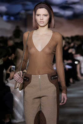 Kendall Jenner Flashes Nipples While Walking the Marc Jacobs Show at New York Fashion Week