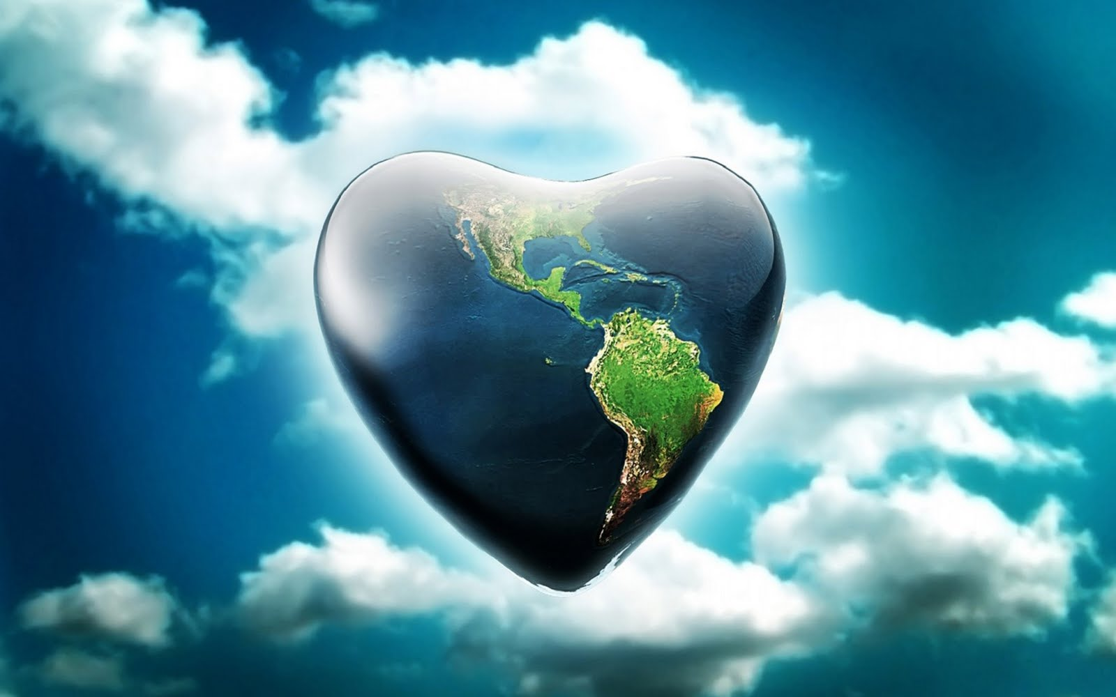 3D Heart of World wallpaper