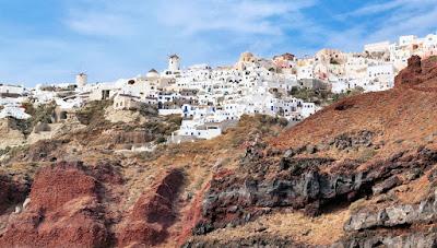 Vista Panorámica de Santorini Italia