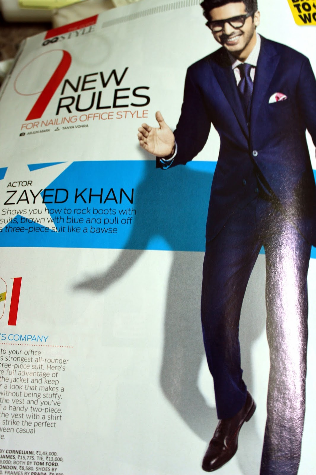 Photoshoot of ZayedKhan in Office-Style Suits for GQ