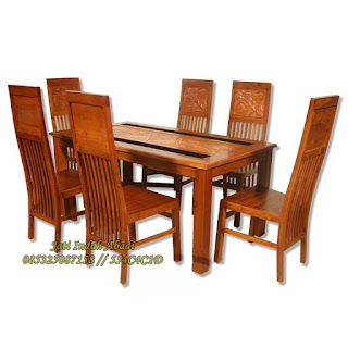 Meja Makan Seroja Jati Indah Furniture