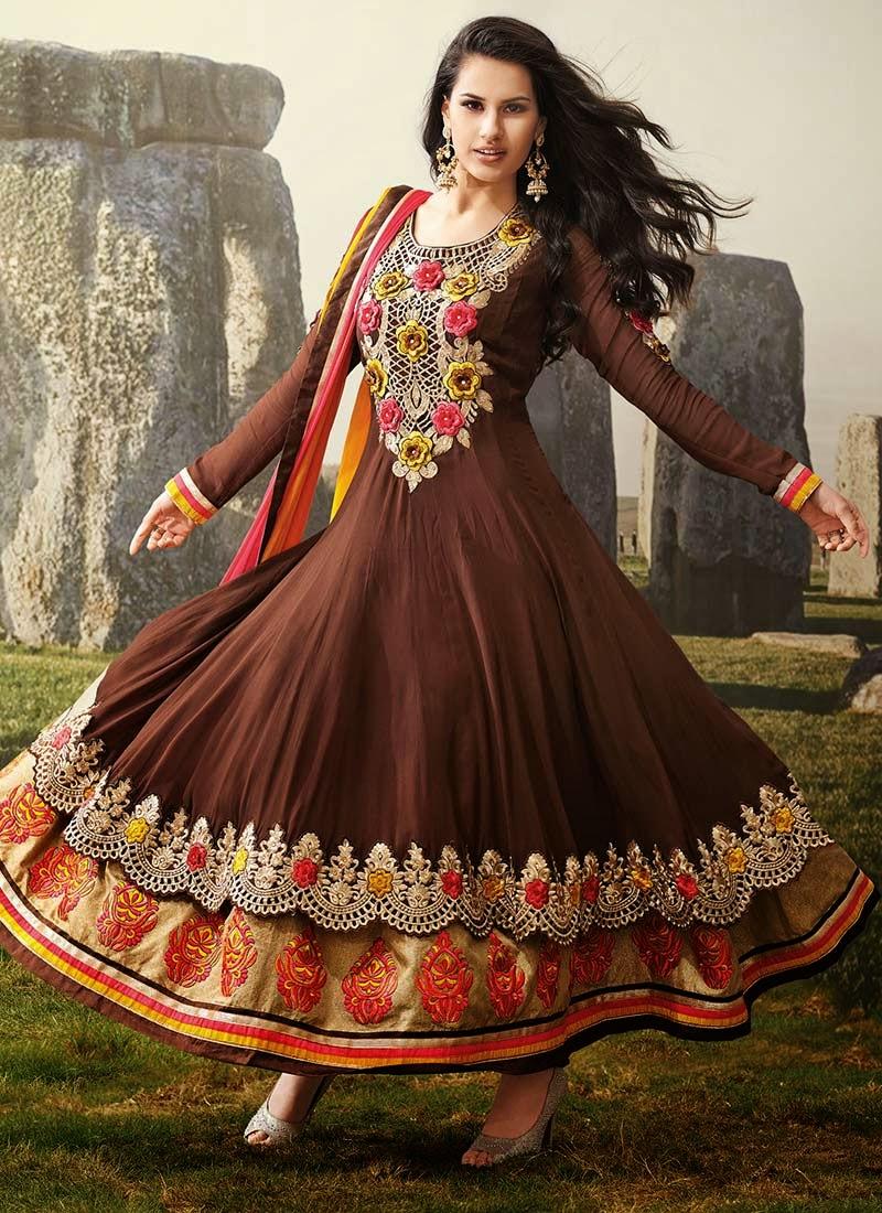 Embroidered Elegant Anarkalis Eid Collection 2014