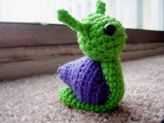 Amigurumi Snail Pattern Free : xX The Catalope Blogs Xx: Sally the Snail - July Amigurumi ...