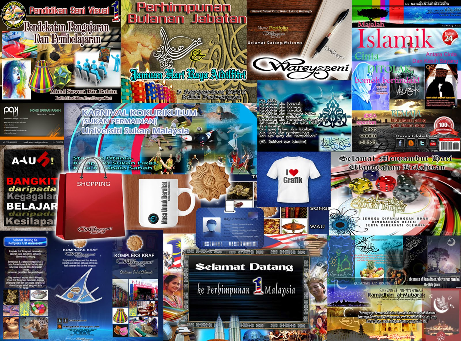Mutiara Kata, Kad Bisnes, Kad Matrik, Phamplet dan Salam Ramadhan